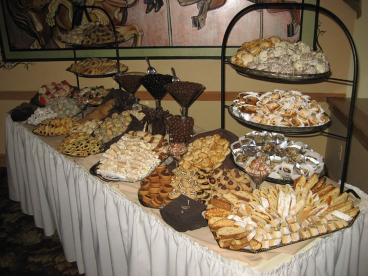 this looks like one of the cookie tables at my moms wedding