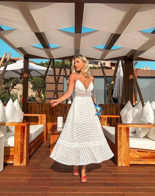 DICA DE LOOK COM VESTIDO MIDI DE RENDA | Vestidos, Look com vestido, Vestido casamento civil