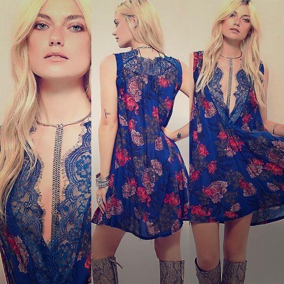 Free People Dress Beautiful Colbalt Blue Color! Free People Dresses