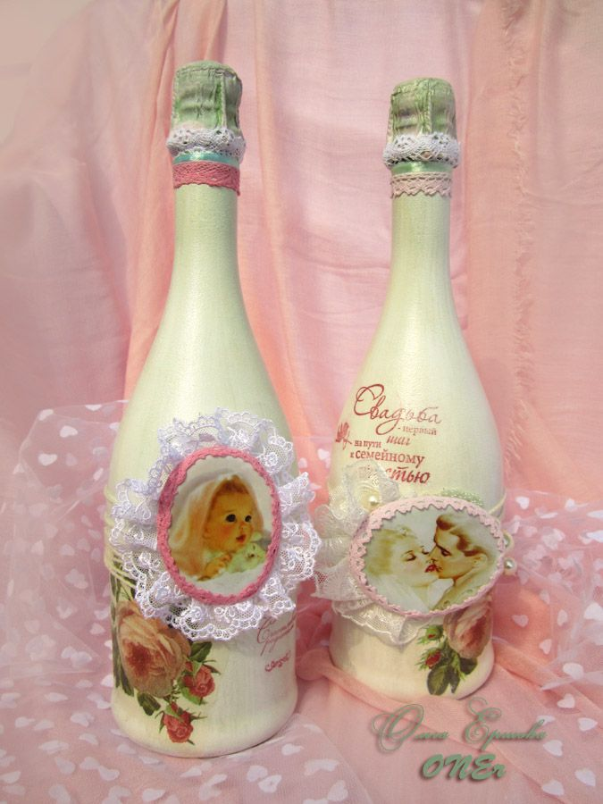 #Shebby. #wedding ideas. Оформление шампанского Асти Мартини на свадьбу в стиле…