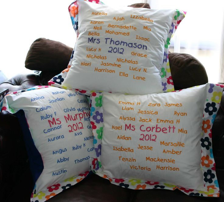 Machine Embroidery Ideas Teacher Appreciation Gifts