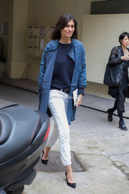 Emmanuelle Alt ... in Isabel Marant coat