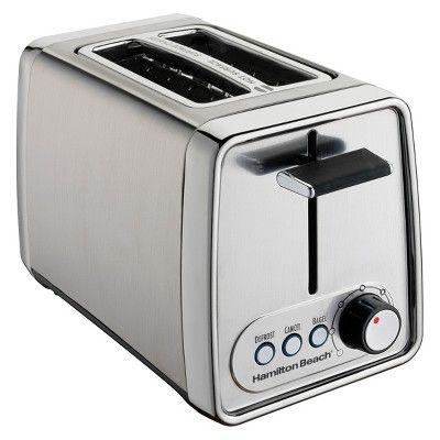 Hamilton Beach Modern Chrome (Grey) 2-Slice Toaster- 22791