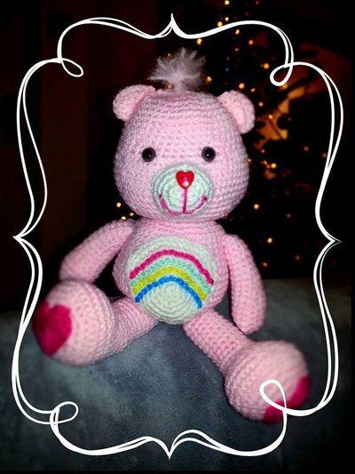 Our pretty crochet Carebear, Love!! Gallery - Thing-a-ma-bobs