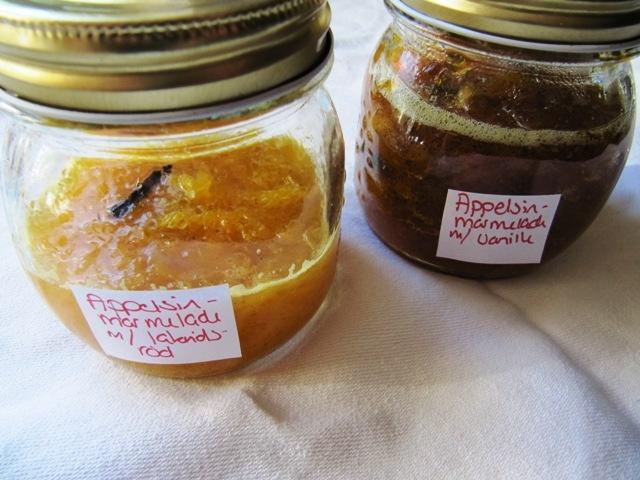 Hanne K's verden: Appelsinmarmelade - med vanille og lakrids