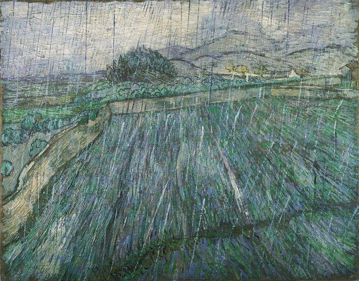 Vincent Willem van Gogh, Dutch, 1853-1890 -- Rain. Музей искусств Филадельфии. Описание картины, скачать репродукцию.