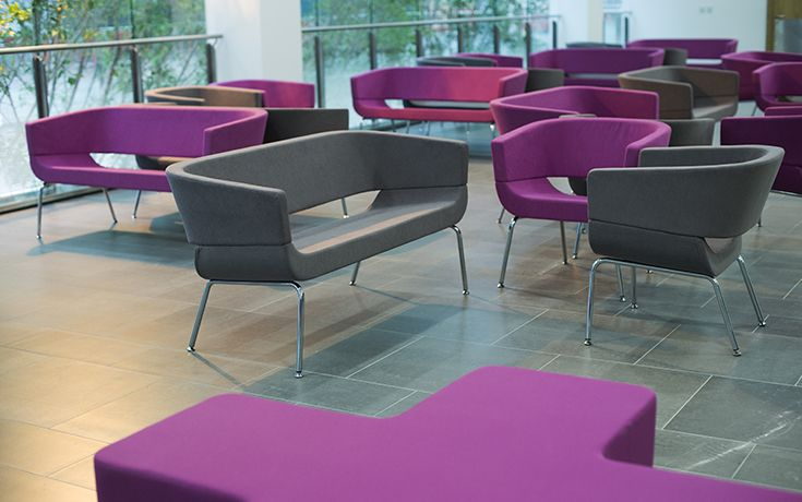 Lola chairs and sofas work really well for the hospital's breakout areas