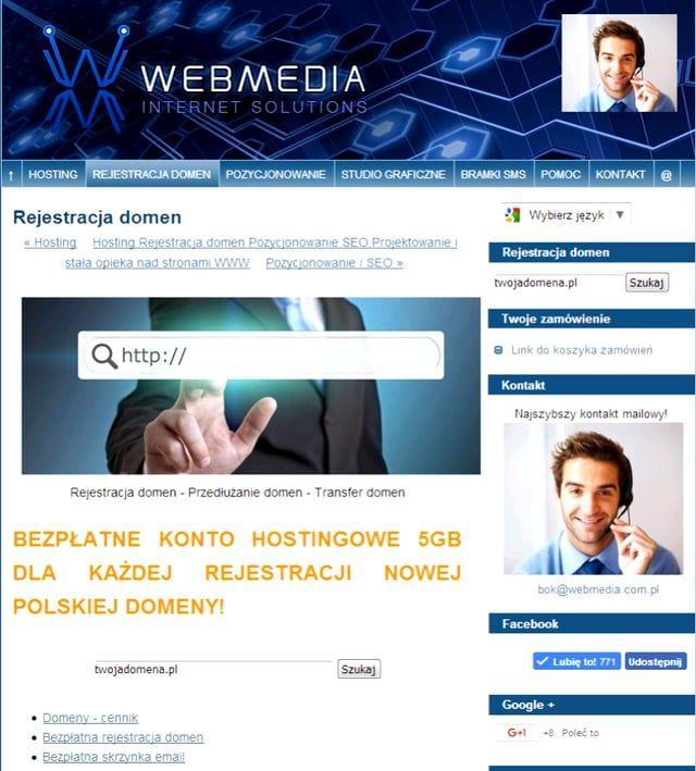 Rejestracja Domen https://webmedia.com.pl/domeny/