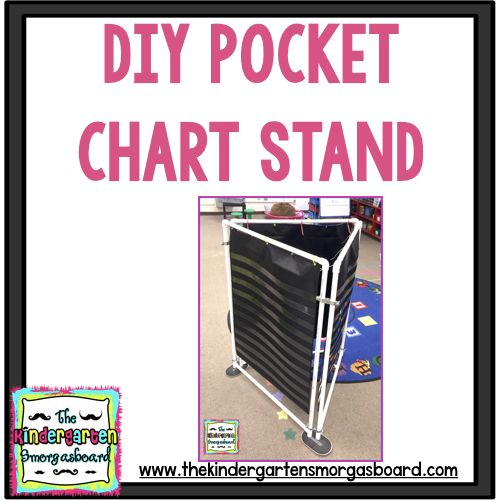 Directions for making a cheap DIY 3 sided pocket chart stand for the classroom. Save space and create more work space with this DIY pocket chart stand.