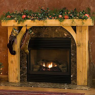 Wood fireplace and Rustic fireplaces