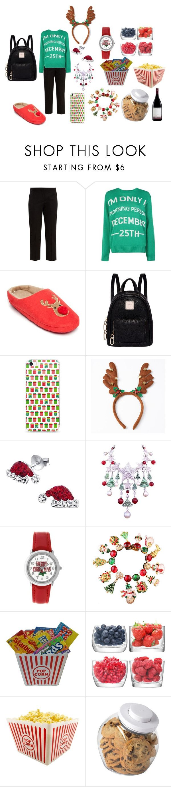 """""""Christmas Sleepover Party Outfit"""" by queencotton21 on Polyvore featuring Alexander McQueen, Boohoo, New Directions, Fiorelli, Carlo Zini, Kim Rogers, LSA International and OXO"""