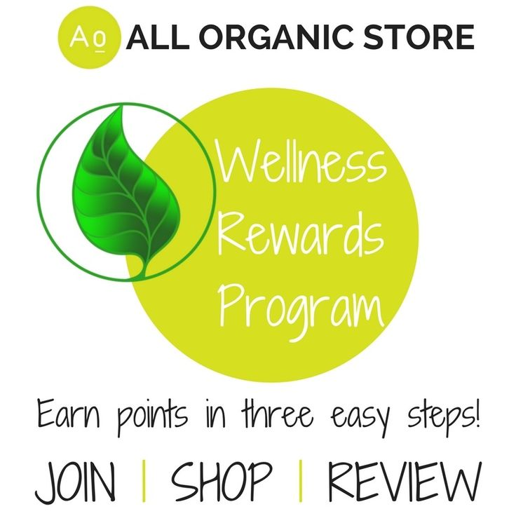 We're excited to announce our new All Organic Store Members Wellness Rewards Program. Earn points when you join (free to join), shop and leave product reviews.  Use your points to shop - eg: 2000 points = $10 Shopping Dollars.