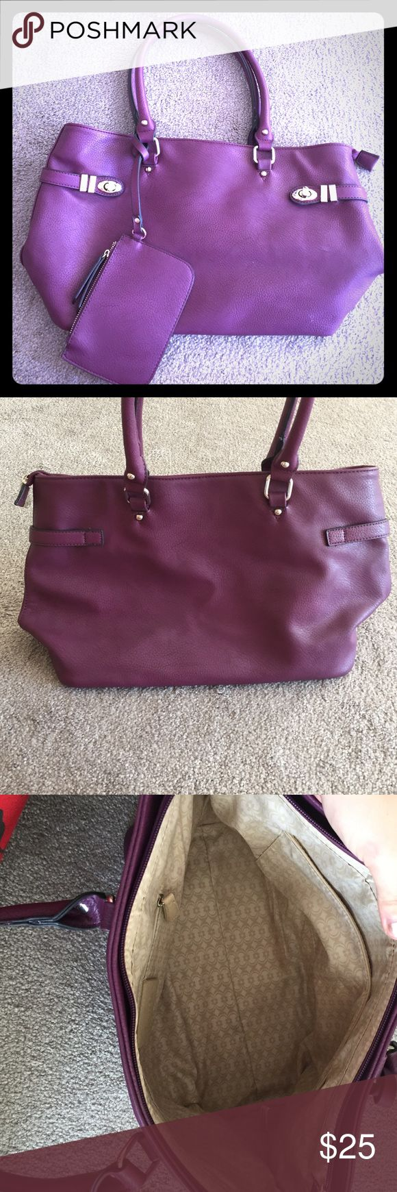 Charming Charlie purple shoulder bag Excellent NWOT condition! Beautiful royal purple and very clean interior. Comes with attached coin purse. Charming Charlie Bags Shoulder Bags