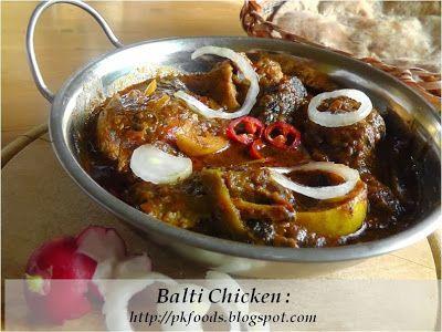 Pakistani Food Recipes: Balti Chicken