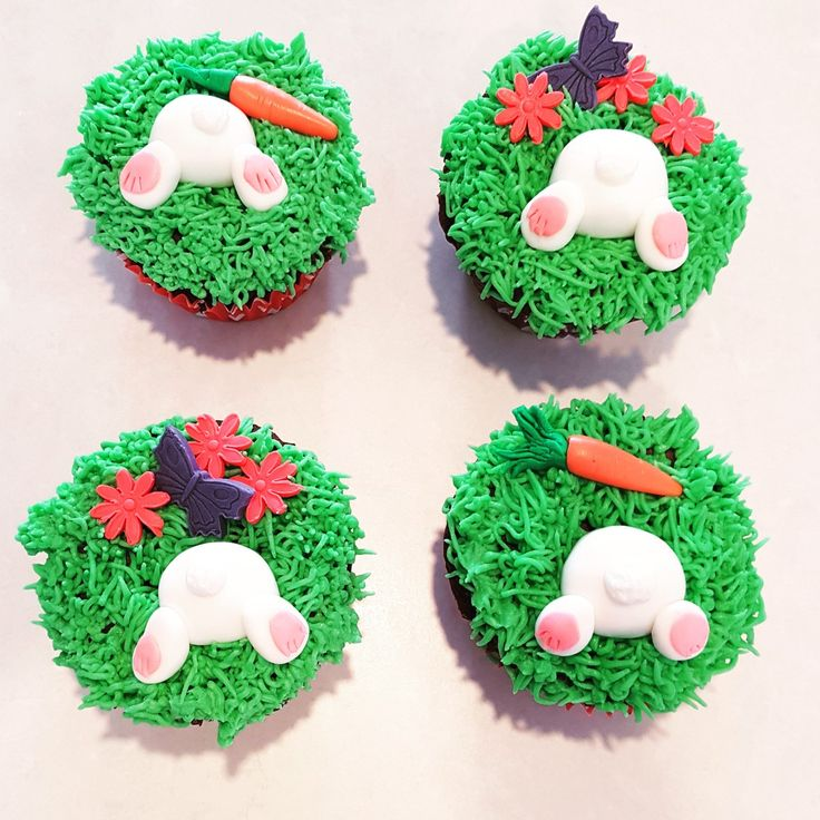 Easy cute easter bunny cupcakes