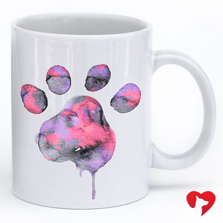 The Watercolor Paw mug. Get yours while they last! **Every purchase feeds 5 shelter dogs!