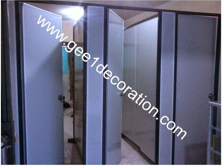 aluminium, kusen, kaca, partisi,  pintu, jendela, lipat, geser, swing, jungkit, pivot, sliding, : cubicale toilet panel pvc