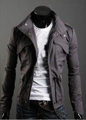 High Quality Turndown Collar Zipper Closure Men Coat – teeteecee - fashion in style