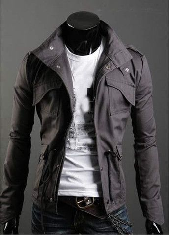 High Quality Turndown Collar Zipper Closure Men Coat – teeteecee - fashion in style