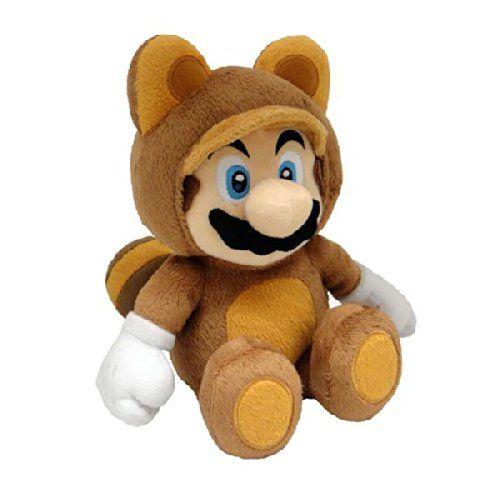 Super Mario Bros 21 cm Official Sanei Tanooki Mario Plush Toy [import anglais]: Descriptif produit: Taille : 23 : Nintendo Personnage…