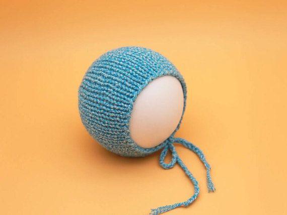 Newborn bonnet  Blue bonnet   Cotton bonnet props  Newborn