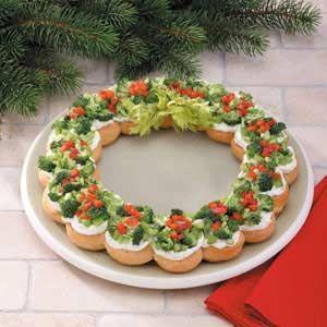 Zet wat toepasselijks neer op tafel tijdens de kerstdagen. De leukste & lekkerste gerechten in de vorm van een kerstkrans!