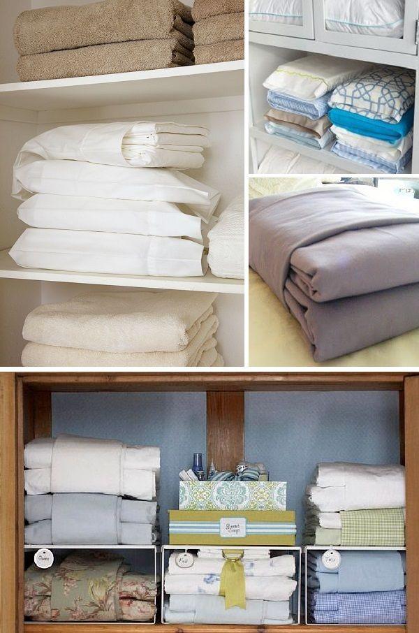 roupas de cama e banho - dobrar lençol