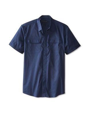 55% OFF 7 Diamonds Men's Invisible Sun Short Sleeve Shirt (Navy)