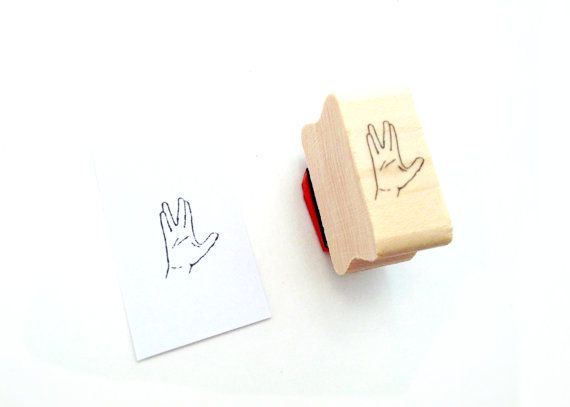 Spock Hand Stamp by WeTheSciencey on Etsy, $6.00