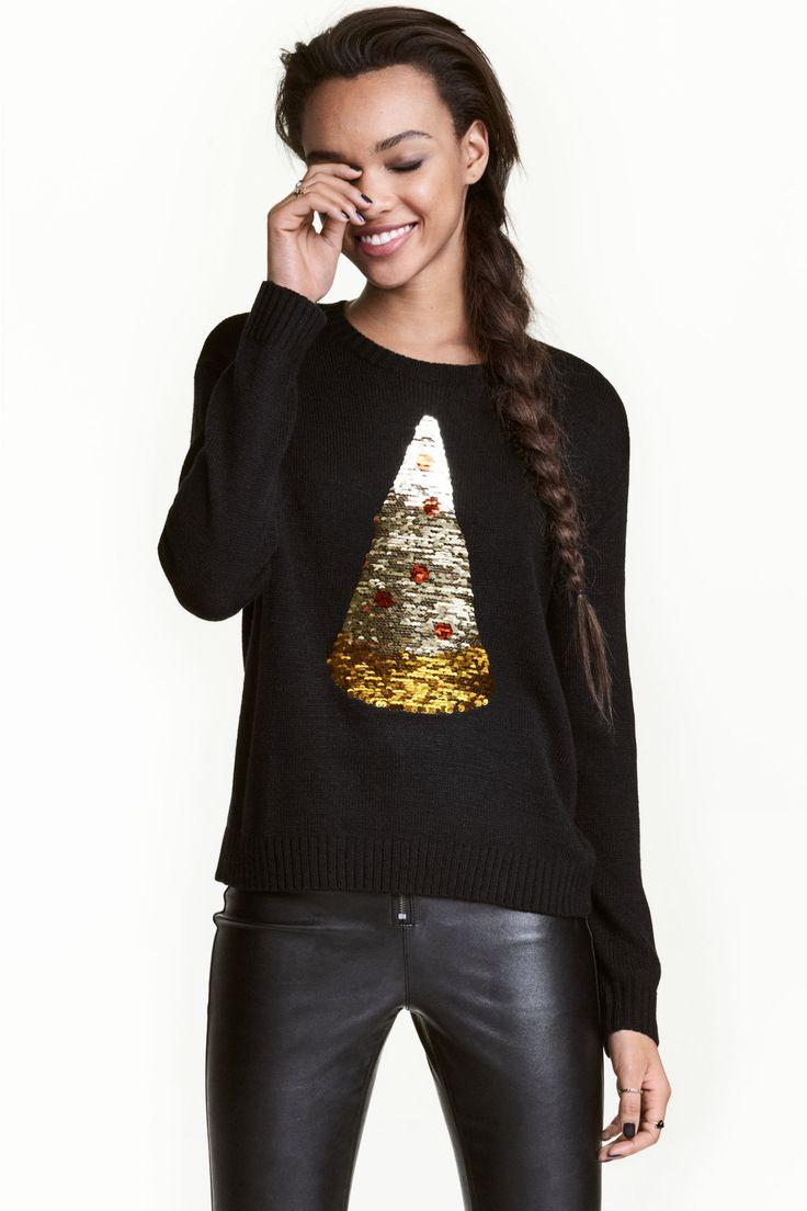 スパンコールクリスマスセーター | H&M
