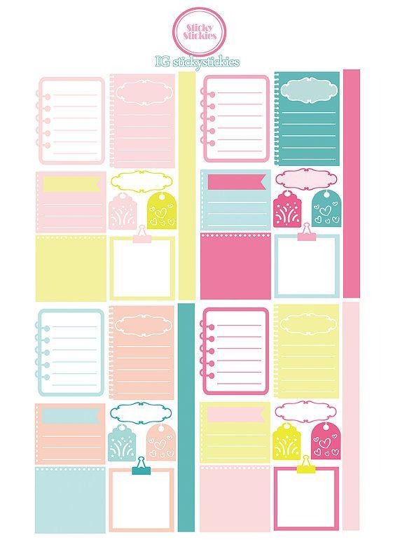 Free Printable Pastel Planning Stickers | stickystickies