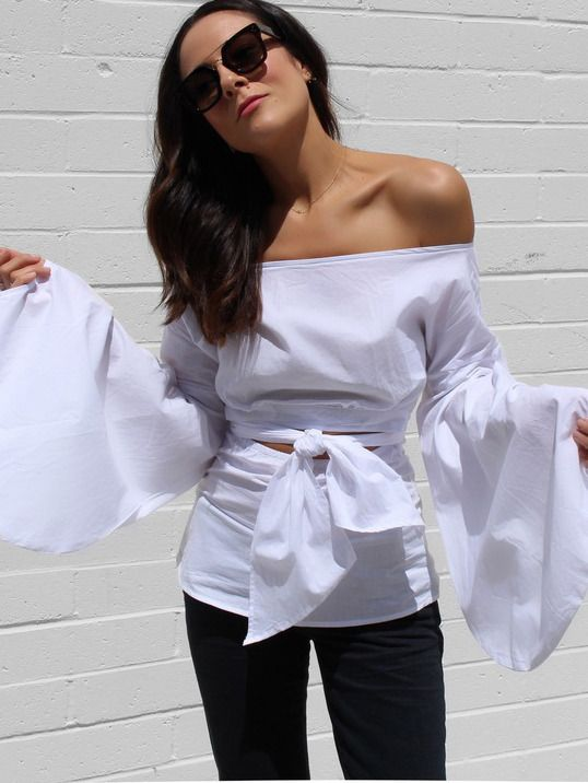 Shop White Puff Sleeve Off-the-shoulder Self-tie Front Blouse online. SheIn offers White Puff Sleeve Off-the-shoulder Self-tie Front Blouse & more to fit your fashionable needs.