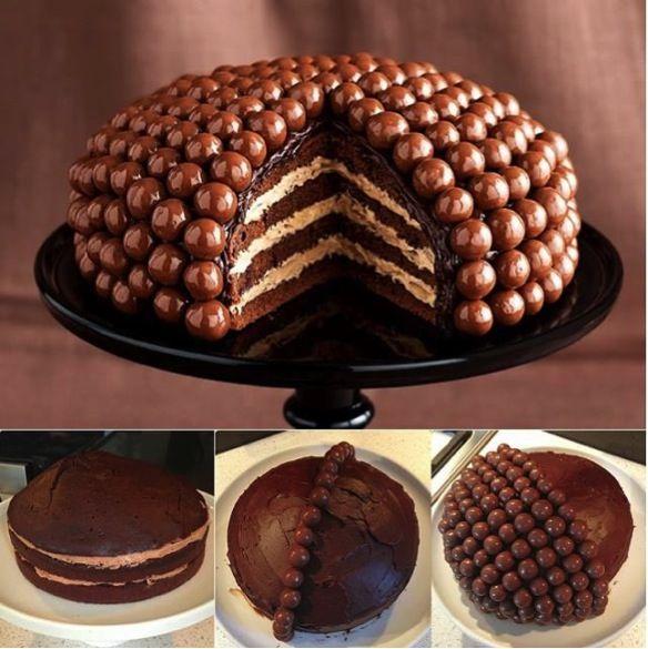 Amazing Chocolate Maltball Cake Recipe