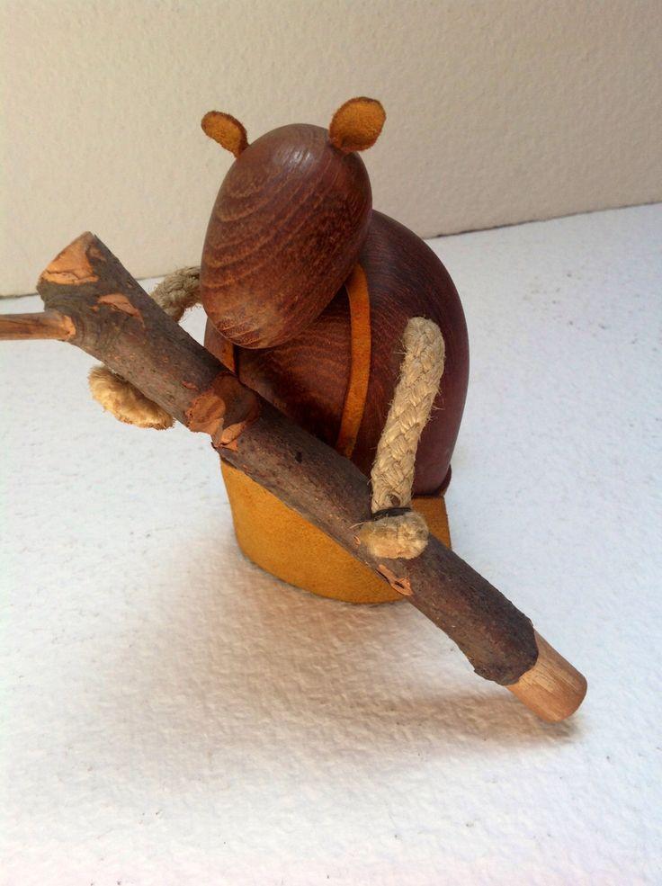 Rare J. Bentsen for Broste Denmark Teak Beaver with log of wood Signed by lamodaditoni on Etsy https://www.etsy.com/listing/152235869/rare-j-bentsen-for-broste-denmark-teak