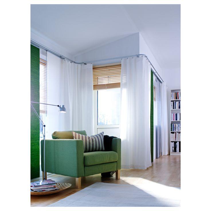 ritva curtains with tiebacks 1 pair white