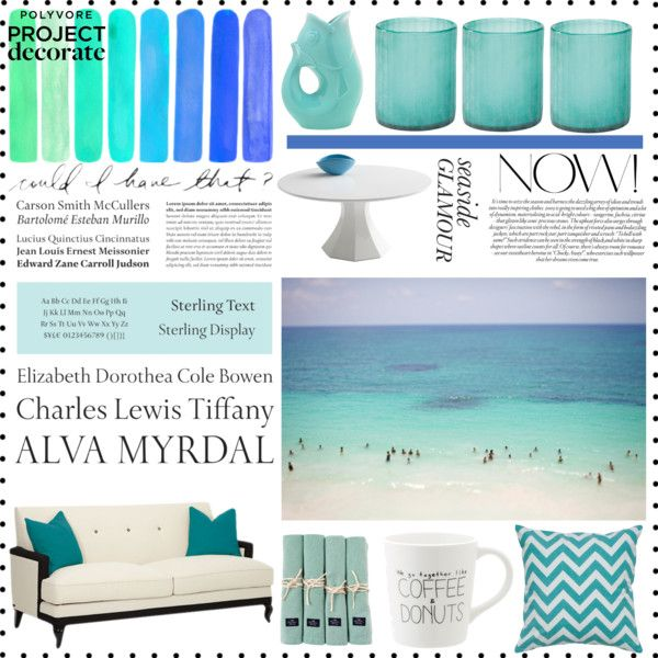 """""""Seaside Glamour"""" by cecilie-1998 on Polyvore"""