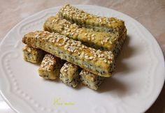 Mákos-szezámos-sajtos rudak