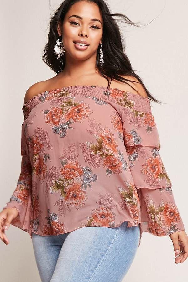 Plus Size Off The Shoulder Top #plussize #fashionaddict aff