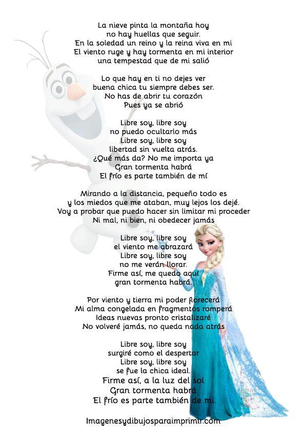 Frozen cancion libre soy-Imagenes y dibujos para imprimir