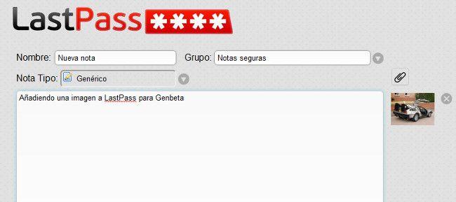LastPass 2.0, añade soporte para archivos en las notas del gestor de contraseñas  http://www.genbeta.com/p/69682