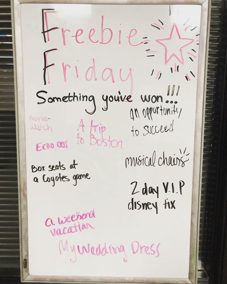 Thrive Events Whiteboard messages, Daily writing prompts