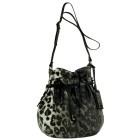 7286 Lindsay Lohan Ami Drawstring Bag – Silver