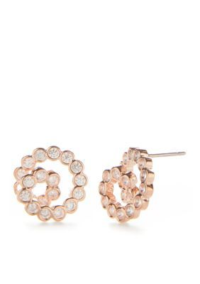 Kate Spade New York  Rose Gold-Tone Glitz And Glam Spiral Stud Earrings - Clear - One Size