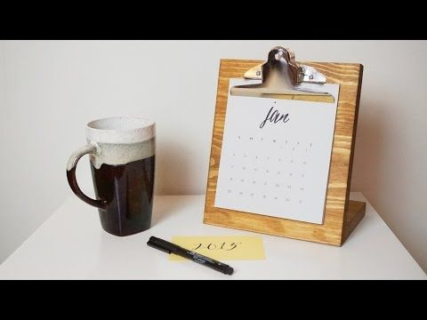 12 best calendars images on pinterest desk calendars calendar an easy and cheap diy desk calendar that will make your colleagues envious solutioingenieria Gallery