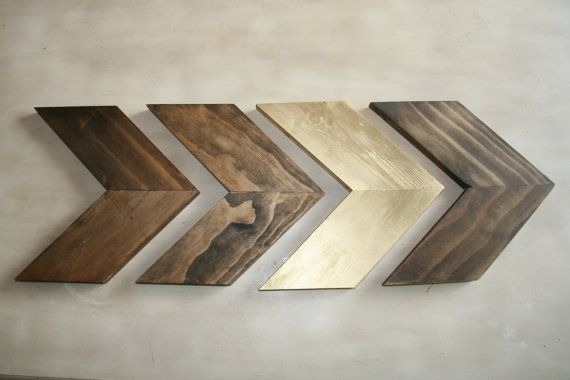 Set of 4 Small Wood Chevron Arrows. Wood by ModernRusticBoutique