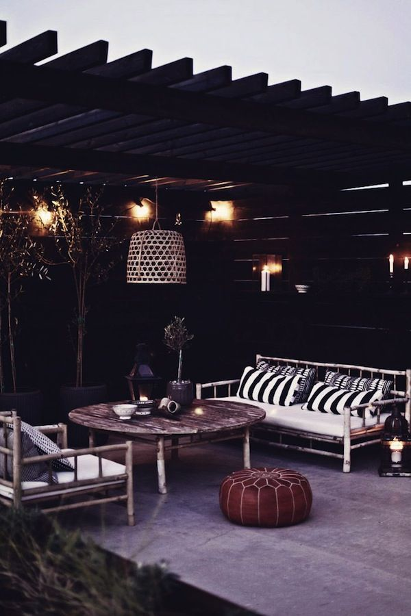 Black Walls Are The New Trend In Outdoor Decorating