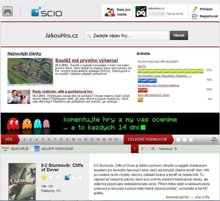 Portál Jakouhru.cz hodnotí počítačové hry, ale nejen z hlediska jejich grafiky a hratelnosti, ale i z hlediska vzdělávacího potenciálu a přínosu pro hráče. www.jakouhru.cz