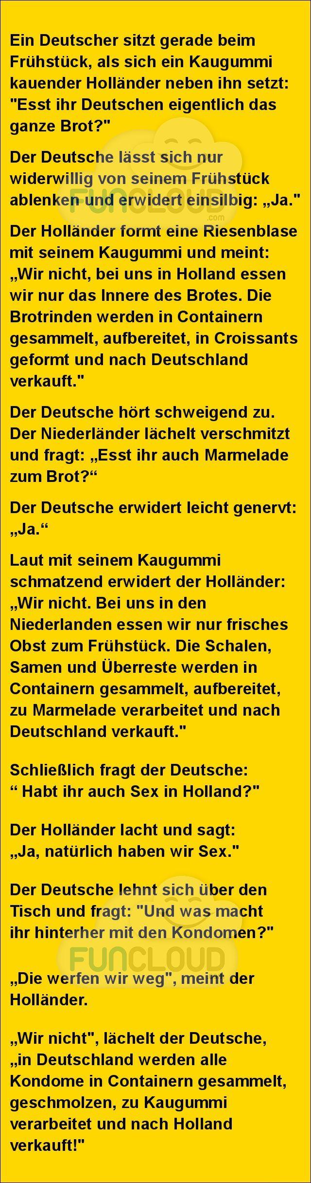 Esst ihr Deutschen eigentlich das ganze Brot? - spruchwerkstatt des Tages…