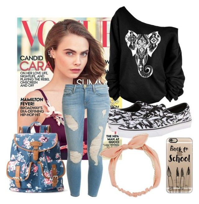 """""""School Outfit"""" by camigy on Polyvore featuring Frame Denim, Vans, Arizona, Candie's and Casetify"""