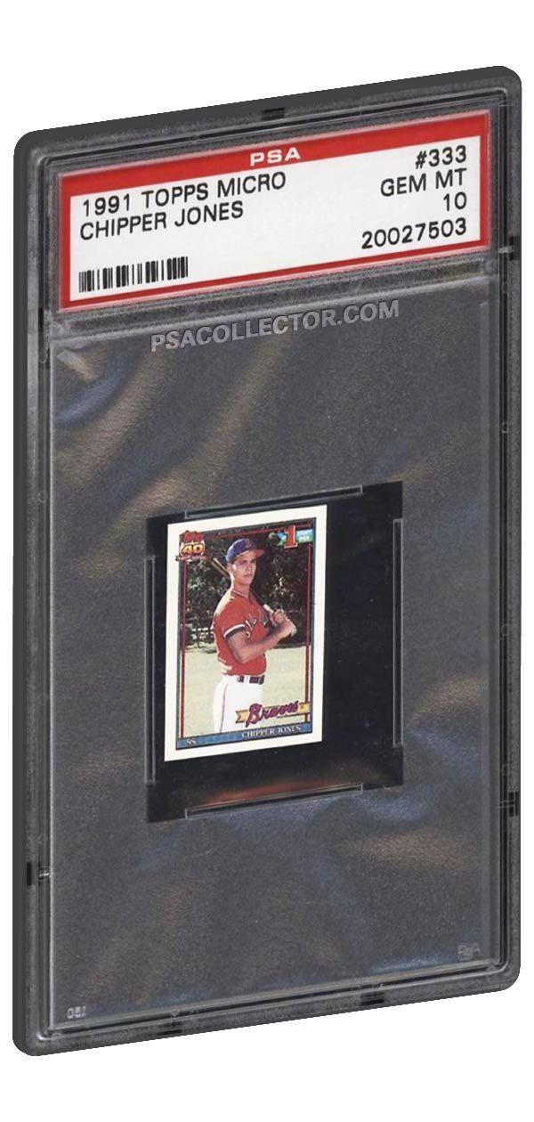 1991 Topps Micro Chipper Jones Rookie Card 333 Psa Gem Mint